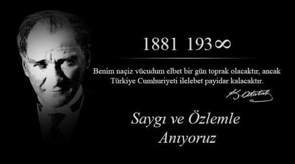 10 Kasım Atatürk Mesajları